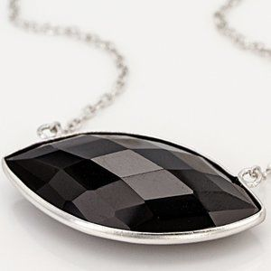 35 ct Black Spinel Sterling Silver Necklace